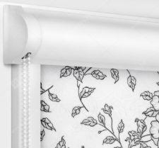 Рулонные кассетные шторы УНИ - Китайская роза черный