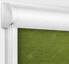 Рулонные кассетные шторы УНИ - Лусто темно-зеленый