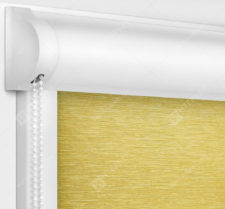 Рулонные кассетные шторы УНИ - Лусто желтый