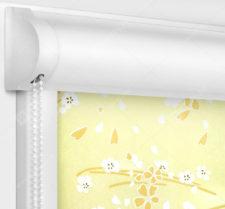 Рулонные кассетные шторы УНИ - Сакура бежевый