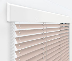 Жалюзи Изолайт 16 мм на пластиковые окна - цвет бледно-розовый