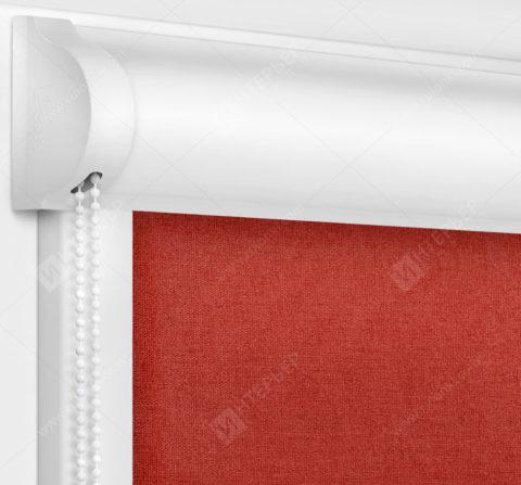 Рулонные кассетные шторы УНИ - Карина красный
