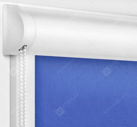 Рулонные кассетные шторы УНИ - Карина синий