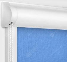 Рулонные кассетные шторы УНИ - Карина блэкаут светло-синий