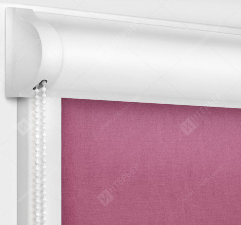 Рулонные кассетные шторы УНИ - Карина темно-розовый