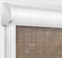 Рулонные кассетные шторы УНИ - Анже коричневый