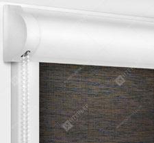 Рулонные кассетные шторы УНИ - Аруба темно-коричневый