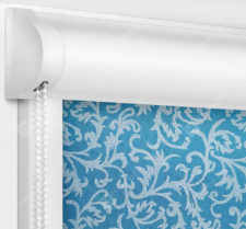 Рулонные кассетные шторы УНИ - Фрост голубой