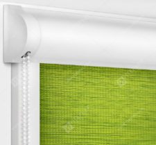 Рулонные кассетные шторы УНИ - Корсо зеленый