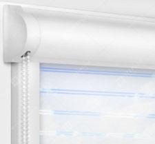 Рулонные кассетные шторы УНИ - Гэлакси белый