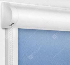 Рулонные кассетные шторы УНИ - Куба голубой