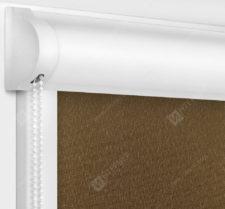 Рулонные кассетные шторы УНИ - Мадагаскар коричневый