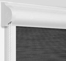 Рулонные кассетные шторы УНИ - Андрия черый на пластиковые окна