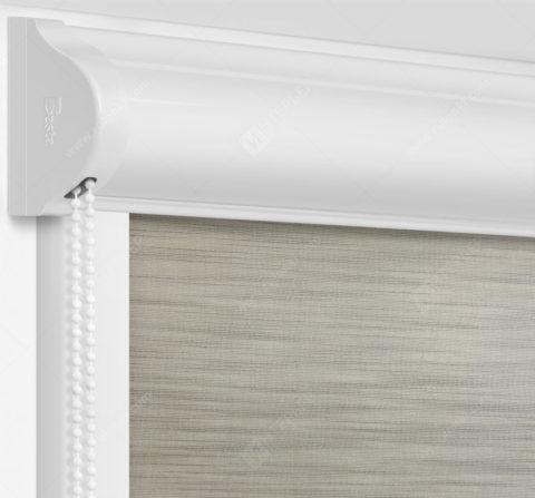 Рулонные кассетные шторы УНИ - Андрия серый на пластиковые окна