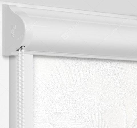 Рулонные кассетные шторы УНИ - Форио белый на пластиковые окна
