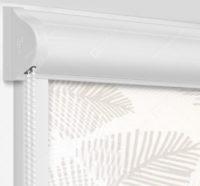 Рулонные кассетные шторы УНИ - Форио песочный на пластиковые окна