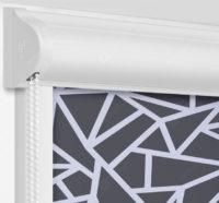 Рулонные кассетные шторы УНИ - Кастелло черый на пластиковые окна