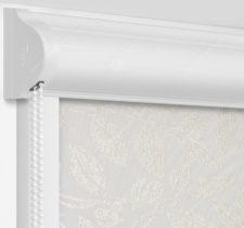 Рулонные кассетные шторы УНИ - Лейси белый на пластиковые окна