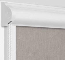 Рулонные кассетные шторы УНИ - Монако дымчато-серый на пластиковые окна