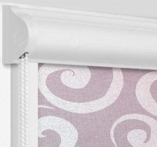 Рулонные кассетные шторы УНИ - Сейшелы сиреневый на пластиковые окна