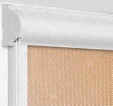 Рулонные кассетные шторы УНИ - Севилья бежевый на пластиковые окна