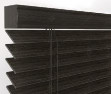 Бамбуковые жалюзи 50 мм, цвет черный 50K-305